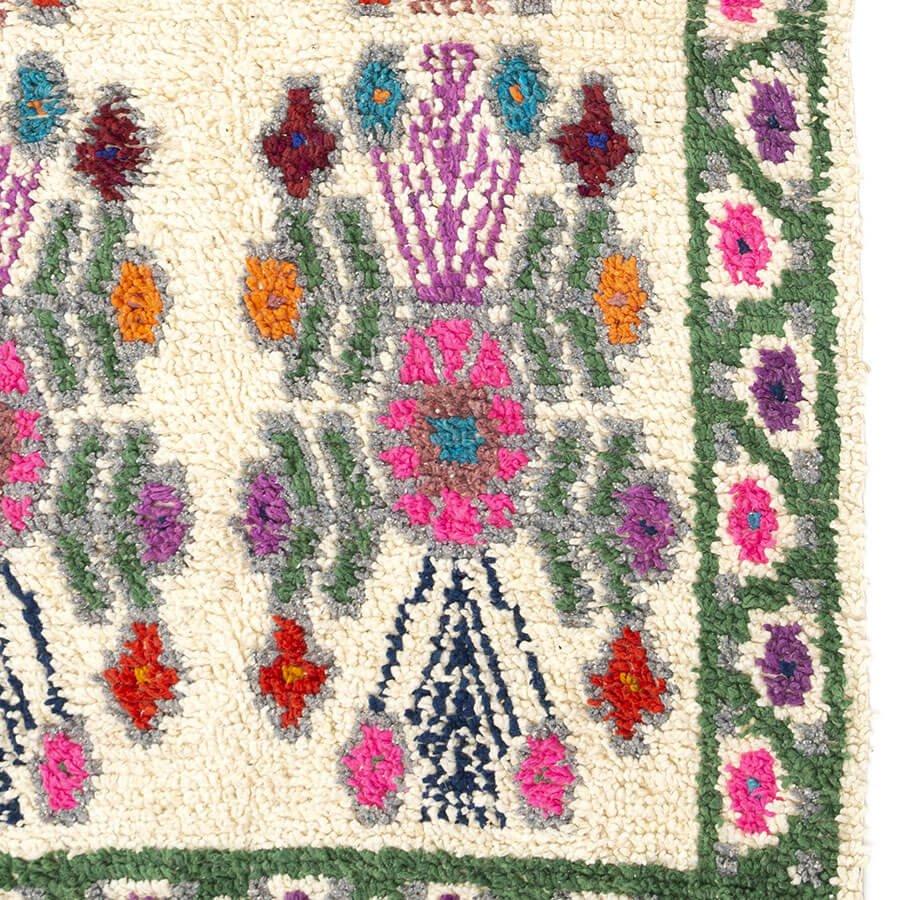 Alfombra de lana de Guatemala color verde