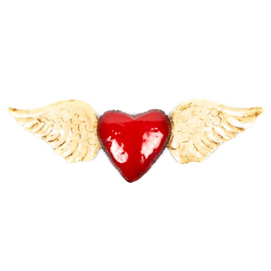 Corazón con alas de hojalata