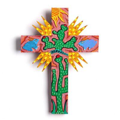 Cruces artesanales de madera