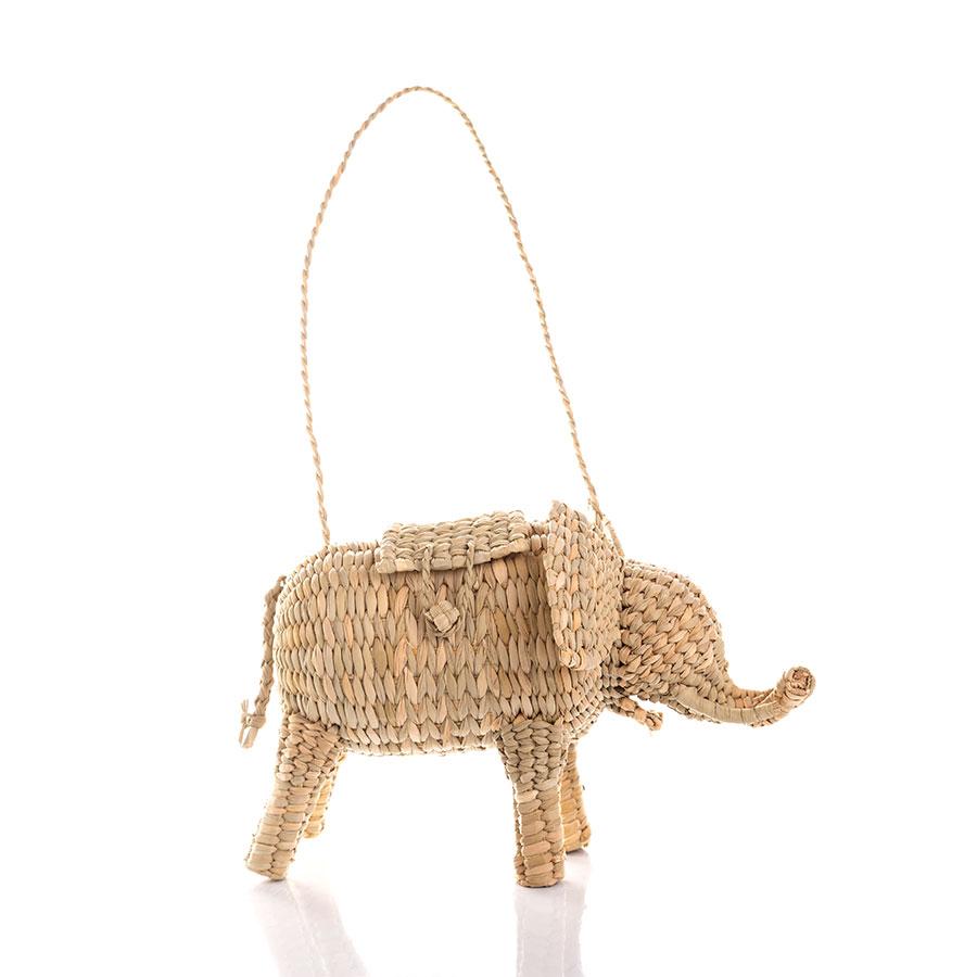 Bolso con forma de animal de fibra vegetal