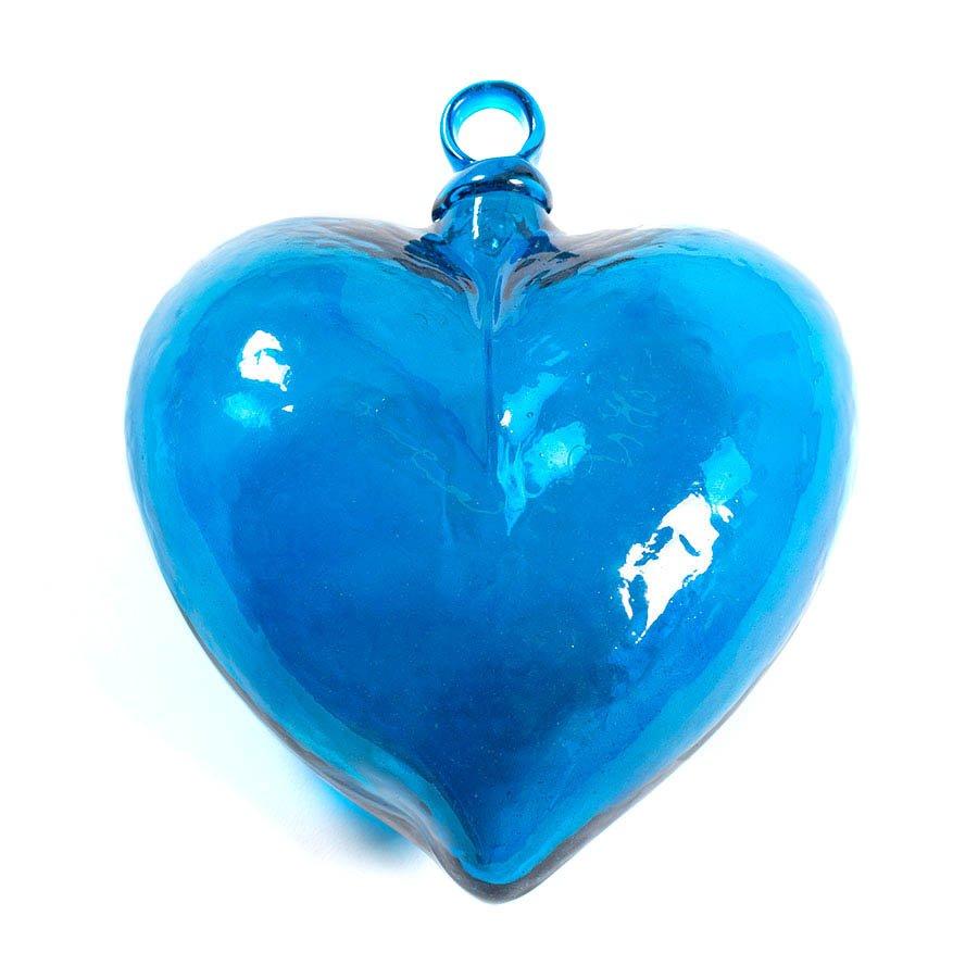 Corazón de vidrio soplado mexicano