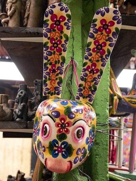 Máscara de madera Guatemala