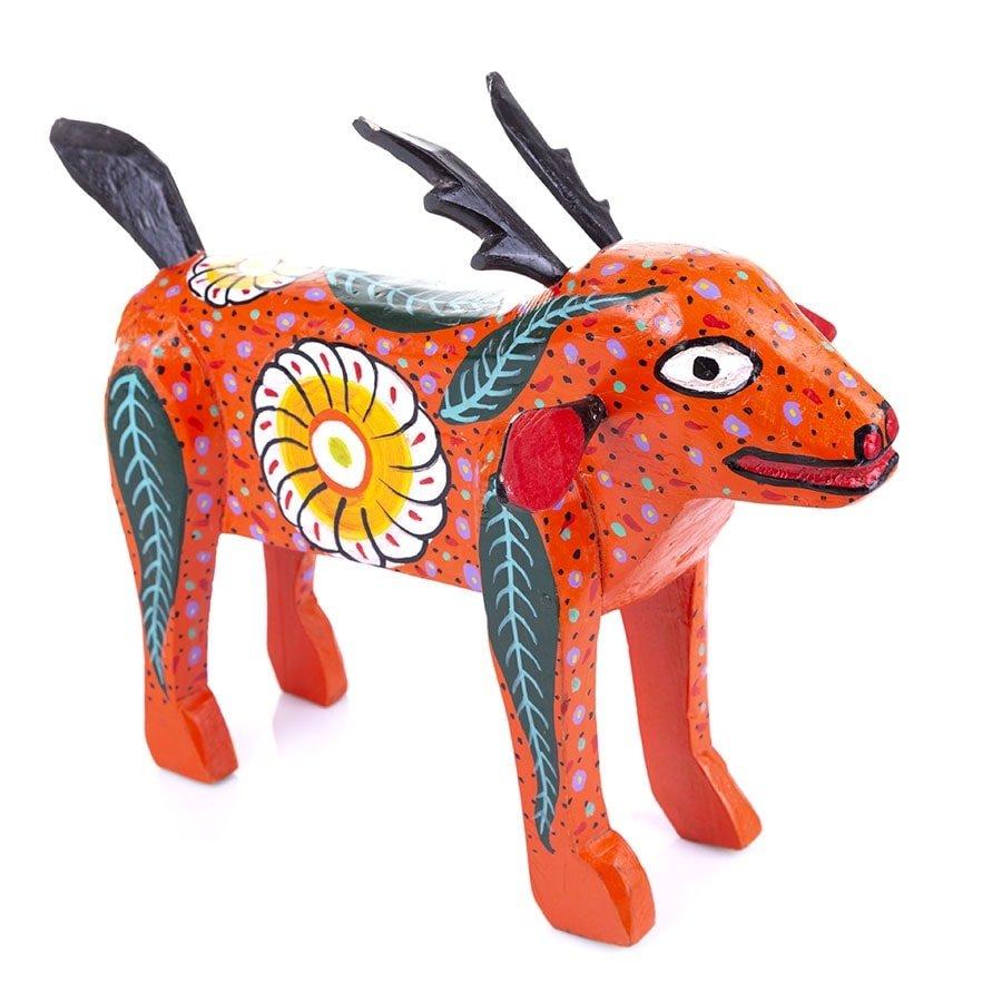 Figura Animal de Madera Pintada